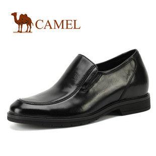 CAMEL美国骆驼 0295371商务成功男士正装皮鞋 内增高套脚男鞋