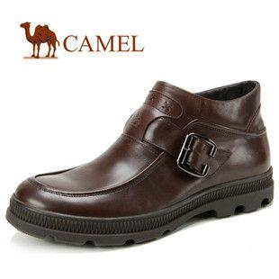 CAMEL骆驼 男鞋男靴 头层牛皮商务休闲男靴子 超保暖 2029017
