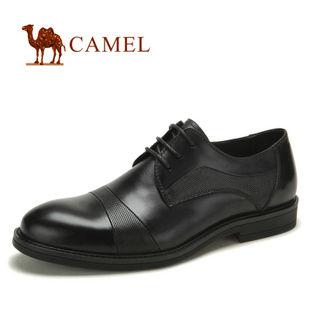 camel 骆驼 男鞋 真皮头层皮商务正装男鞋 2012新款 82029600