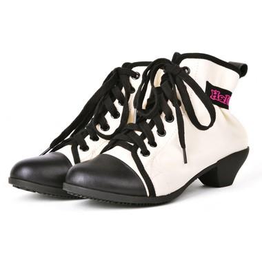 骆驼女鞋camel-1032421-软面皮复古风情个性粗跟矮靴白色
