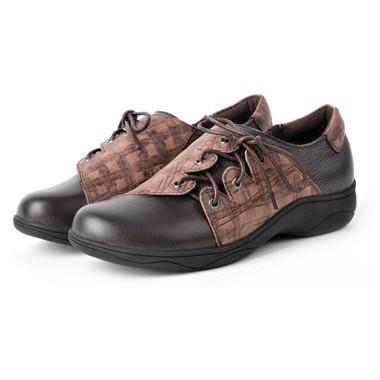 骆驼女鞋camel-368221-头层牛皮女士休闲鞋咖啡色