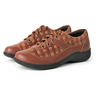 骆驼女鞋camel-369521-头层牛皮复古潮流真皮休闲女鞋棕色