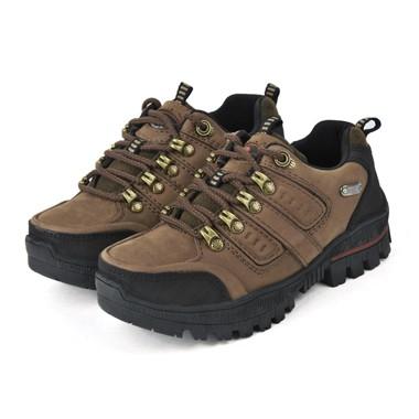 骆驼女鞋camel-494621-磨砂牛皮防水透气耐磨户外登山鞋绿色