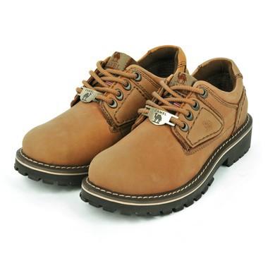 骆驼女鞋camel-602321-高档磨砂牛皮女士户外休闲鞋黄色