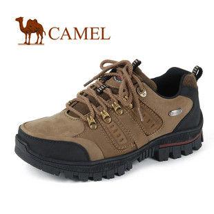 骆驼女鞋camel-0551866-高档磨砂牛皮女士户外休闲鞋黄色
