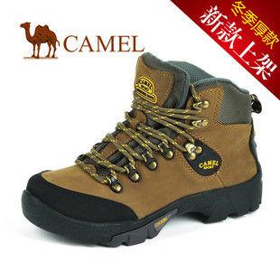 骆驼女鞋camel-0650013-高档磨砂牛皮女士户外休闲鞋黄色