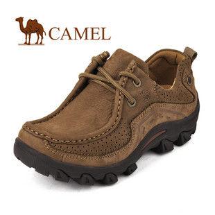 CAMEL美国骆驼 户外经典系带女款休闲鞋 女鞋 磨砂牛皮鞋578921