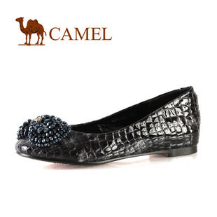 camel 骆驼 内增高女鞋 百搭甜美时尚女单鞋 平跟舒适 2012春款 1008017