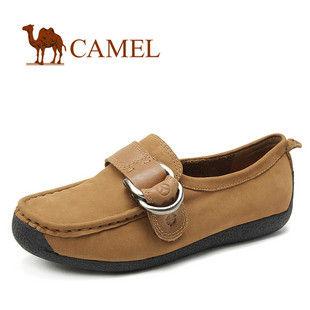 camel 骆驼正品 女鞋 磨砂牛皮 日常休闲单鞋真皮 2012春款1027002