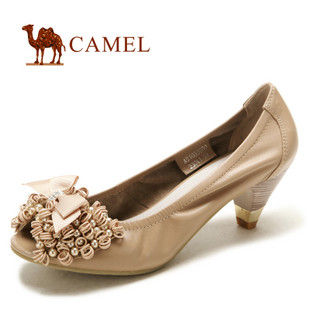 camel 骆驼 2012新款女鞋 时尚休闲真皮单鞋 1039600