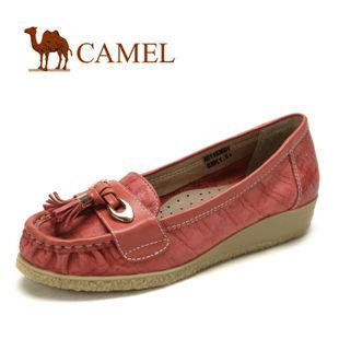 camel 骆驼 2012新款 女鞋 真皮头层皮时尚休闲单鞋 1153601