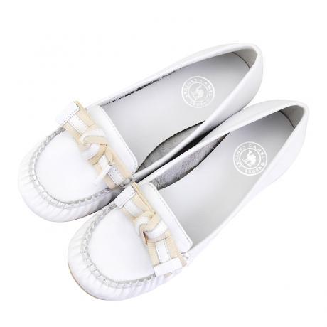 骆驼女鞋camel-GA1060221-热卖女士真皮时尚单鞋白色