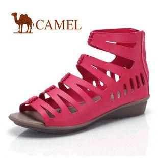 CAMEL美国骆驼1009027 女鞋 性感镂空个性罗马羊皮凉鞋 2011夏季新款
