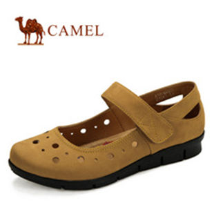 camel 骆驼 正品 女鞋 真皮头层 时尚休闲女鞋 2012新款 1036022