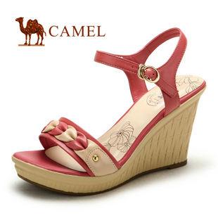 camel 骆驼 女鞋 时尚坡跟休闲女凉鞋 2012夏日新款 1128016