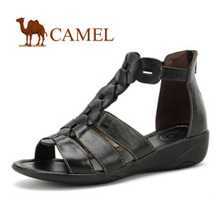 CAMEL美国骆驼 女鞋 真皮罗马风格女士凉鞋1189178