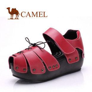CAMEL美国骆驼 女鞋 真皮防水台休闲凉鞋 GALJ60123
