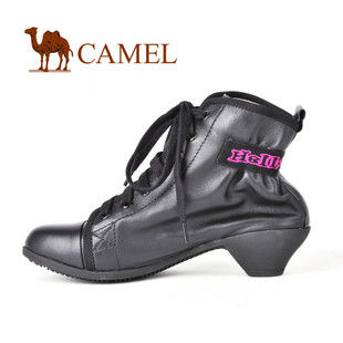 CAMEL 骆驼 软面皮复古风情个性粗跟矮靴 1032421
