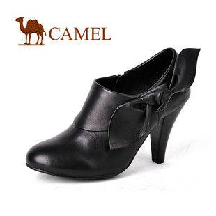 CAMEL骆驼 1120111优雅锥形高跟真皮女鞋 正品