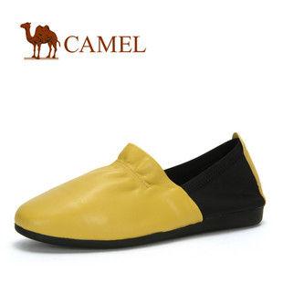 camel 骆驼 女鞋 真皮超轻盈舒适柔软平底鞋 时尚套脚 2012春款0110221