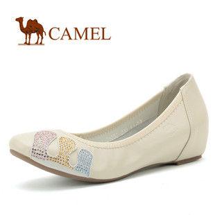骆驼女鞋camel-0221053-优雅淑女系列内增高真皮单鞋休闲鞋