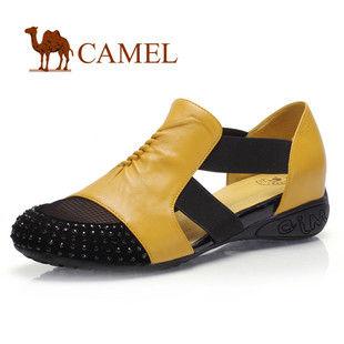 骆驼女鞋camel-1001015-女鞋凉鞋平底女款凉单鞋履甜美淑女罗马凉鞋女鞋