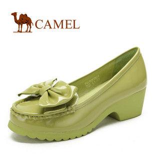 camel 骆驼 女鞋 优雅蝴蝶结 甜美时尚休闲女鞋 2012春款 1003004