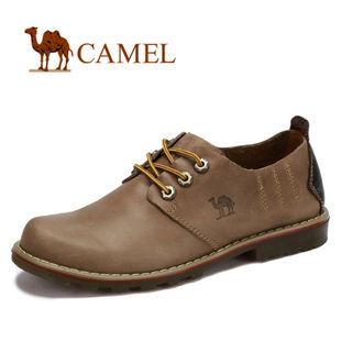 camel骆驼 情侣鞋 全牛皮绑带 大头鞋 耐磨日常休闲鞋 2012春款2350017