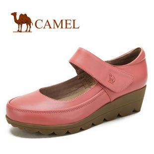 camel 骆驼 女鞋 简洁光亮 真皮时尚休闲女鞋 2012春款 81153600