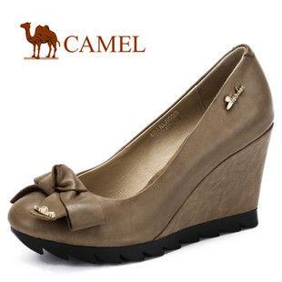 camel 骆驼 女鞋 女性魅力 优雅时尚坡跟女鞋 2012春款 81RL8039