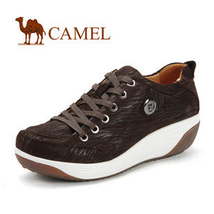 骆驼女鞋camel-992721-美国骆驼鞋女休闲鞋磨砂皮真皮系带