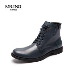 Mr.ing新款时尚真皮高帮靴英伦潮男马丁靴潮男鞋 H280