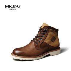 Mr.ing2015新品休闲英伦真皮潮流男鞋男士保暖靴子A885