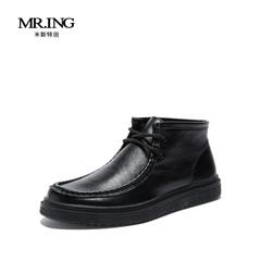 Mr.ing2015秋季时尚真皮板鞋韩版高帮潮鞋复古休闲鞋聚H566-3
