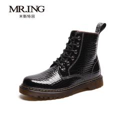Mr.ing2015秋冬新品超纤高帮靴英伦潮靴潮流情侣加绒马丁靴 H595