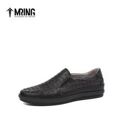 Mr.ing2017新品春季青年街头个性潮鞋低帮舒适真皮乐福鞋男A1749